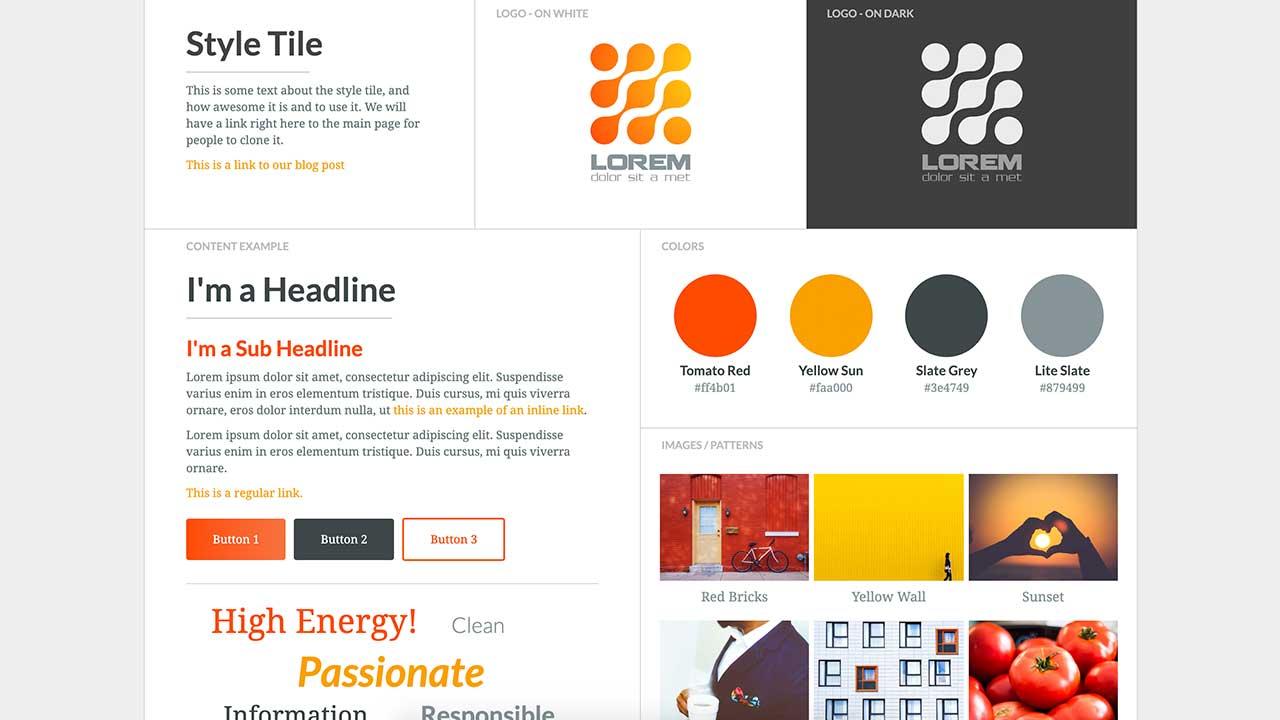 phong cách thiết kế web