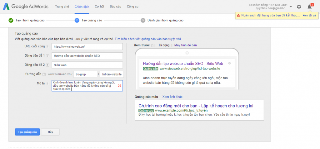 huong dan remarketing google