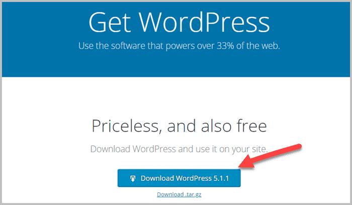 cách cài đặt wordpress